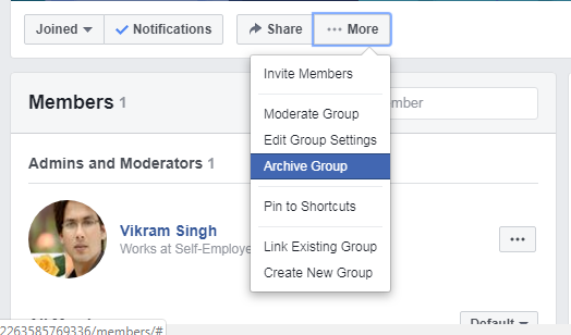 facebook group archive