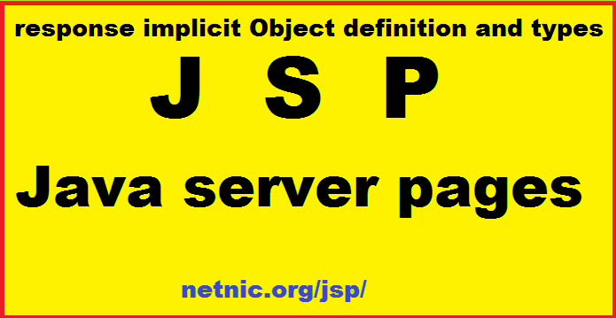 response implicit Object in jsp
