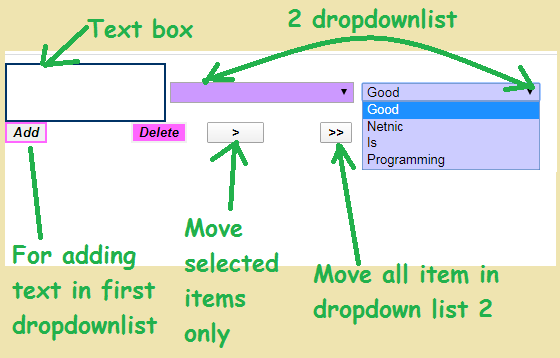 dropdown list example in asp.net c#