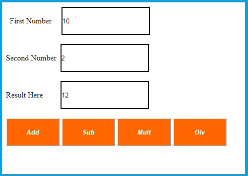 example of calculator
