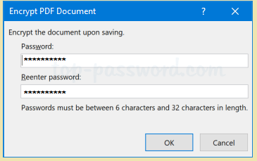 give the password in msword