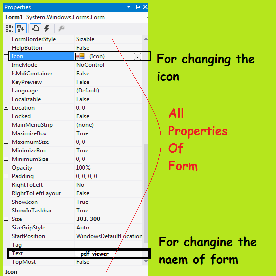 form properties of pdf software