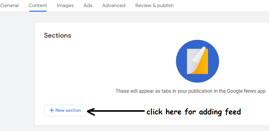adding feed in google news publisher